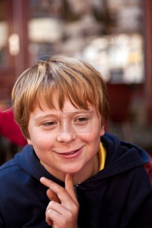 Portrait of a handsome smiling boy