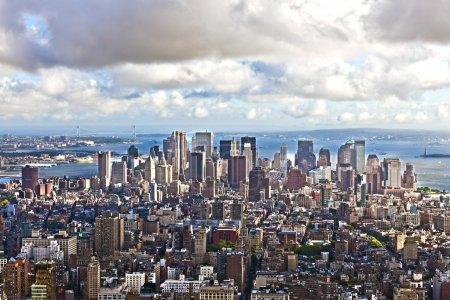 View over Manhattan and skyscraper