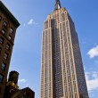 Facade of Empire State Building in New York...