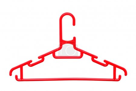 Photo for Plastic hanger isolated on white background - Royalty Free Image