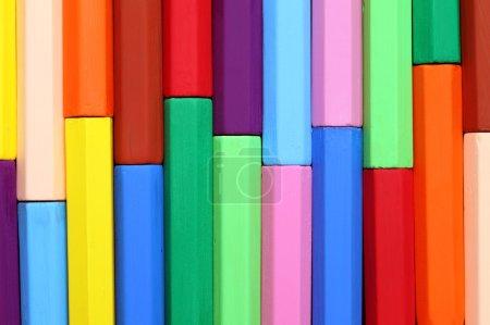 Photo pour Gros plan de crayons colorés - image libre de droit