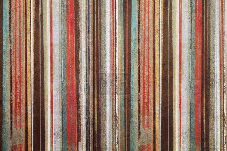 Photo for Vintage shabby wallpaper with stripes - Royalty Free Image