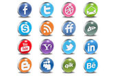 Glossy Vector Social 3d Icons