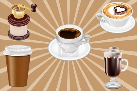 Realistic Vector Coffee Cups