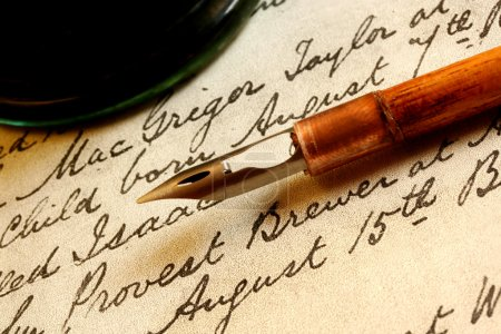 Nib Pen and Inkwell