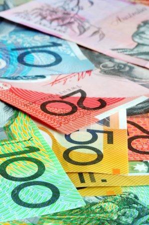 Australian money - notes form a full-fram backgrou...