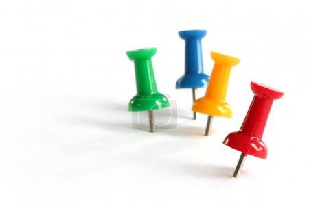 Pushpins in Primary Colors