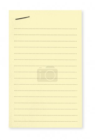 Yellow Note with Staple