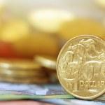 Australian money background. Soft focus, shallow D...