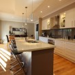 Modern kitchen and dining area, in new family home...