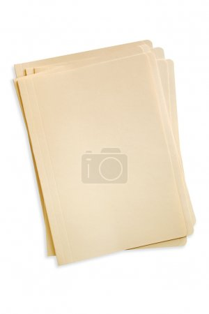Photo for Stack of manilla file folders, with clipping path. - Royalty Free Image