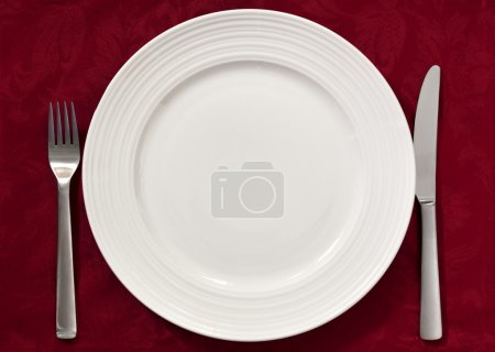 Place Setting on Red