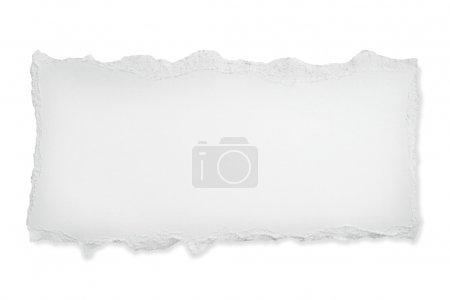 Foto de Papel blanco de antorcha, con ruta de recorte. - Imagen libre de derechos