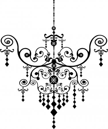 Black Chandelier Graphic Pattern