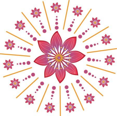 Colorful flower background design