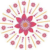 Stock Vector Illustration: Flower background