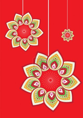 Flower pattern graphic design