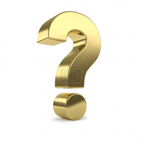 Gold 3d question mark