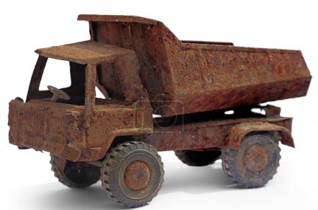 Old rusted toy truck