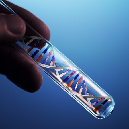 Photo for Dna molecule in test tube - Royalty Free Image