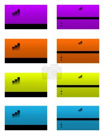 Photo pour Carte de visite recto et verso, Ajoutez vos coordonnées. les modèles à recadrer et imprimer la taille maximale est : (in. : 3,503x2,007) (cm. : 8,9x5,1) (px. : 1051x602 ) - image libre de droit