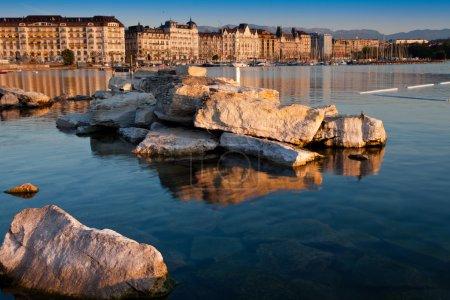 Photo pour Vue sur la ville de Genève, Suisse - image libre de droit