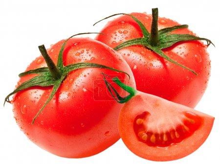 Photo for Tomato isolated on white background - Royalty Free Image