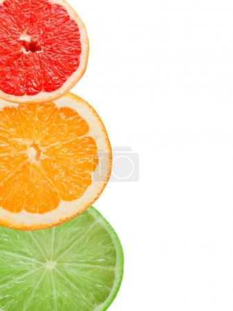 Photo for Citrus slices isolated on white background - Royalty Free Image
