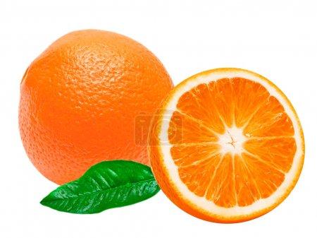 Photo pour Orange isolé sur fond blanc - image libre de droit