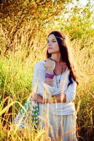 Hippie girl dreams.