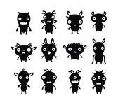 Pets 6 black on white set