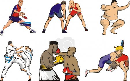 Combat sports tabble tennis figures