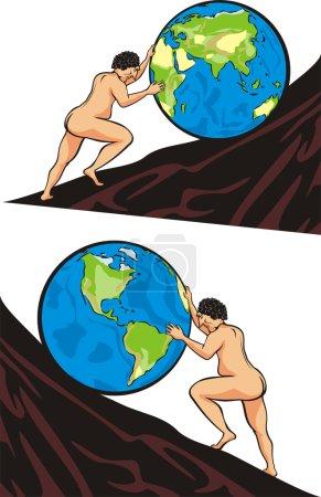 Sisyphus task - toil one`s way