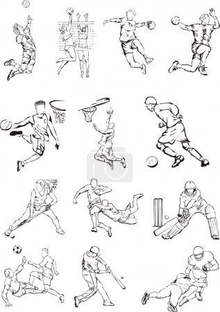 Team sports icons