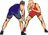 Wrestling - contact sport