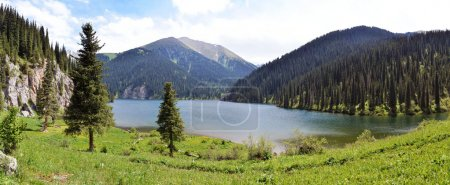 Photo for Kolsay Lake in Tien Shan mountain system, Kazakhstan - Royalty Free Image