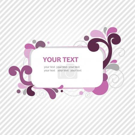Rose frame for text