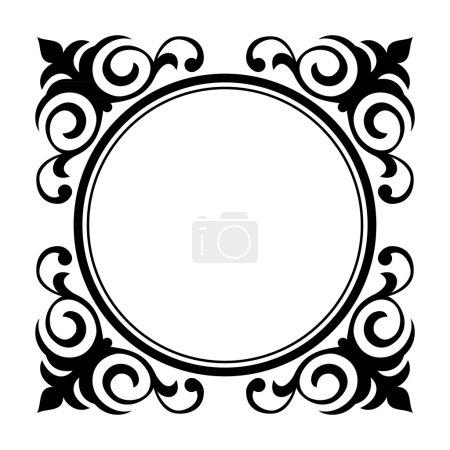 Illustration pour Vecteur cercle ornement cadre décoratif b - image libre de droit