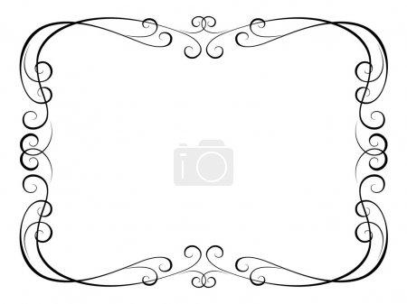 Illustration for Vector calligraphy penmanship ornamental B - Royalty Free Image