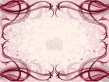 Illustration pour Vecteur rouge abstrait floral grunge motif fond - image libre de droit