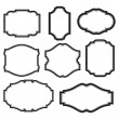 Baroque simple set of black frames isolated on whi...