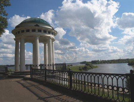 Quay of the river of Volga in Yaroslavl, Russia