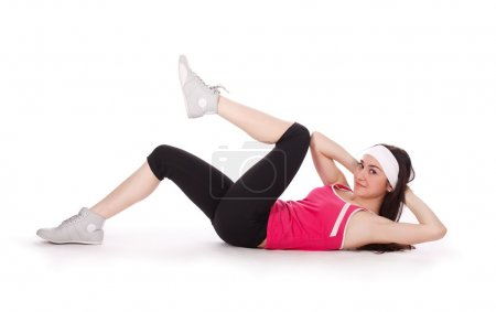 Fitness woman training abs