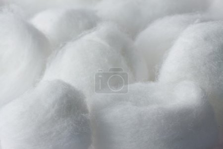 Cotton ball texture close up and faded out