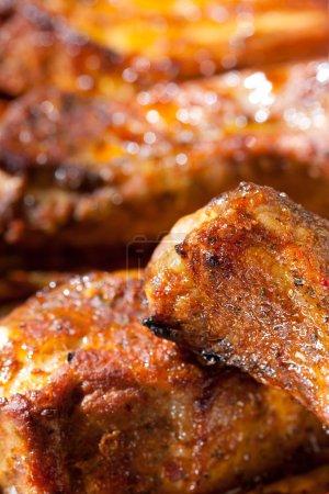 Delicious spicy barbecue ribs