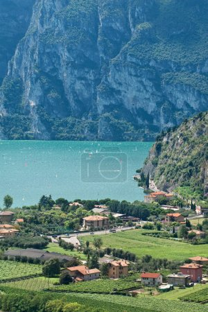 View from Nago village on lake Garda, Italy