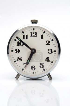Photo for Alarm-clock on gray light background - Royalty Free Image