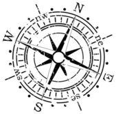 Grunge kompas