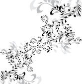 Abstract floral silhouette element for design