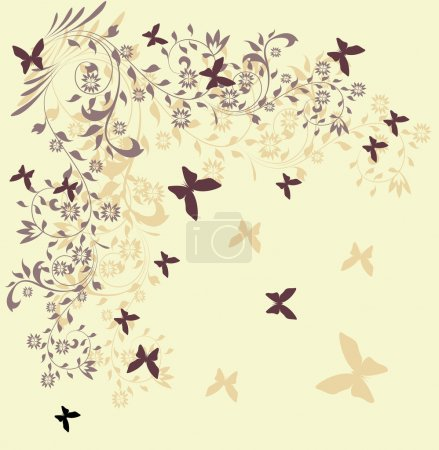 Illustration for Floral background, greeting card - Royalty Free Image